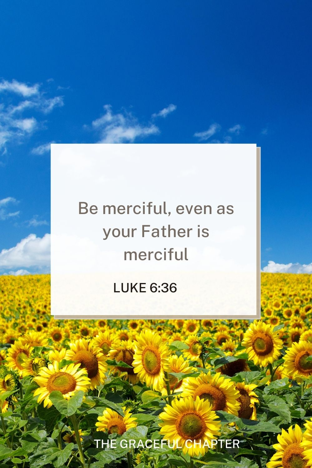 Be merciful, even as your Father is merciful Luke 6:36 - mercy bible verses esv