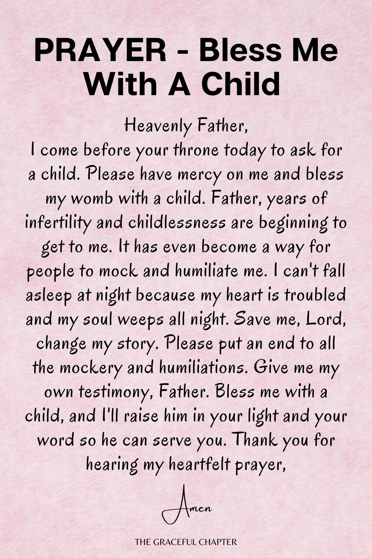 Prayer -  Bless me with a child