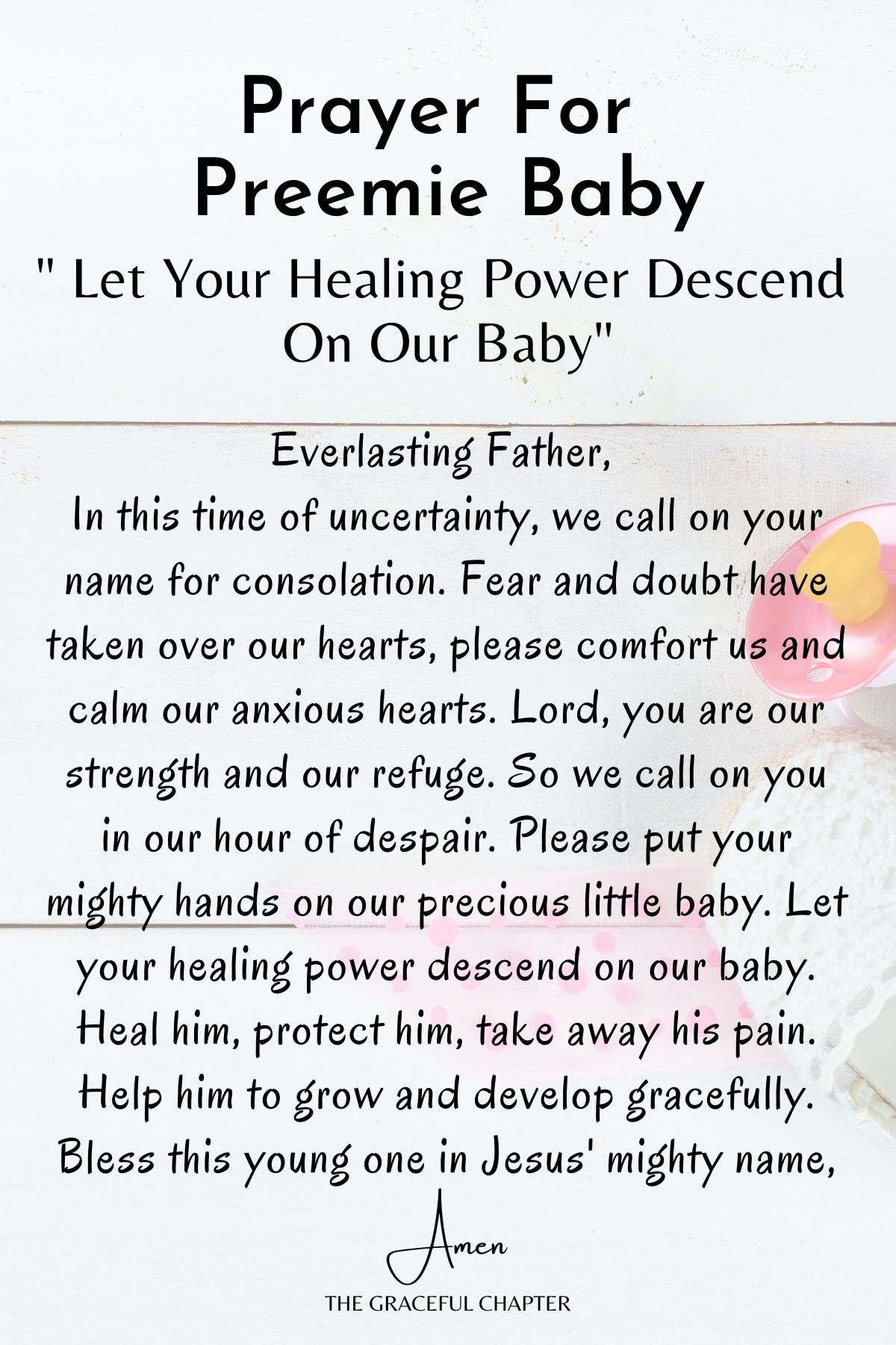 Let your healing power descend on our baby