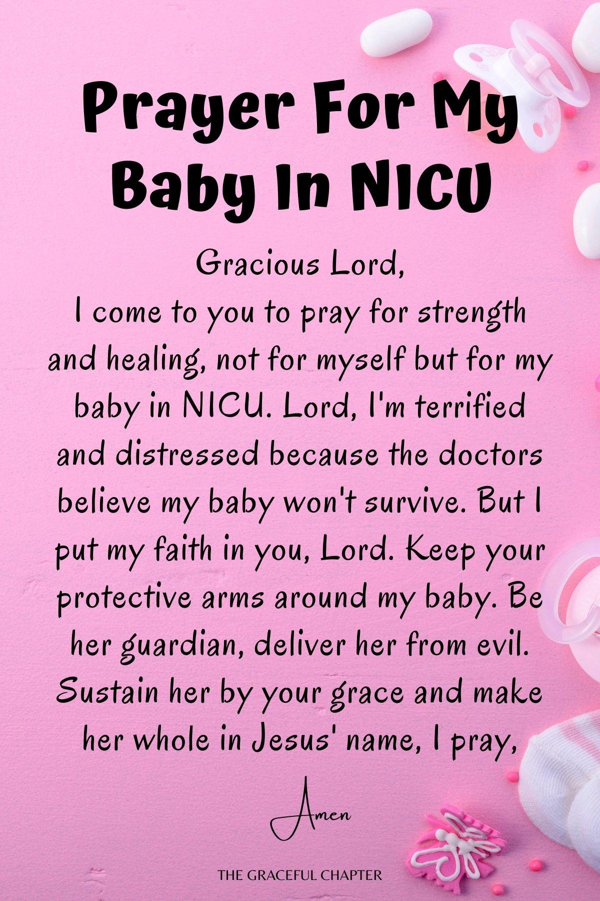 Prayer for my baby in NICU