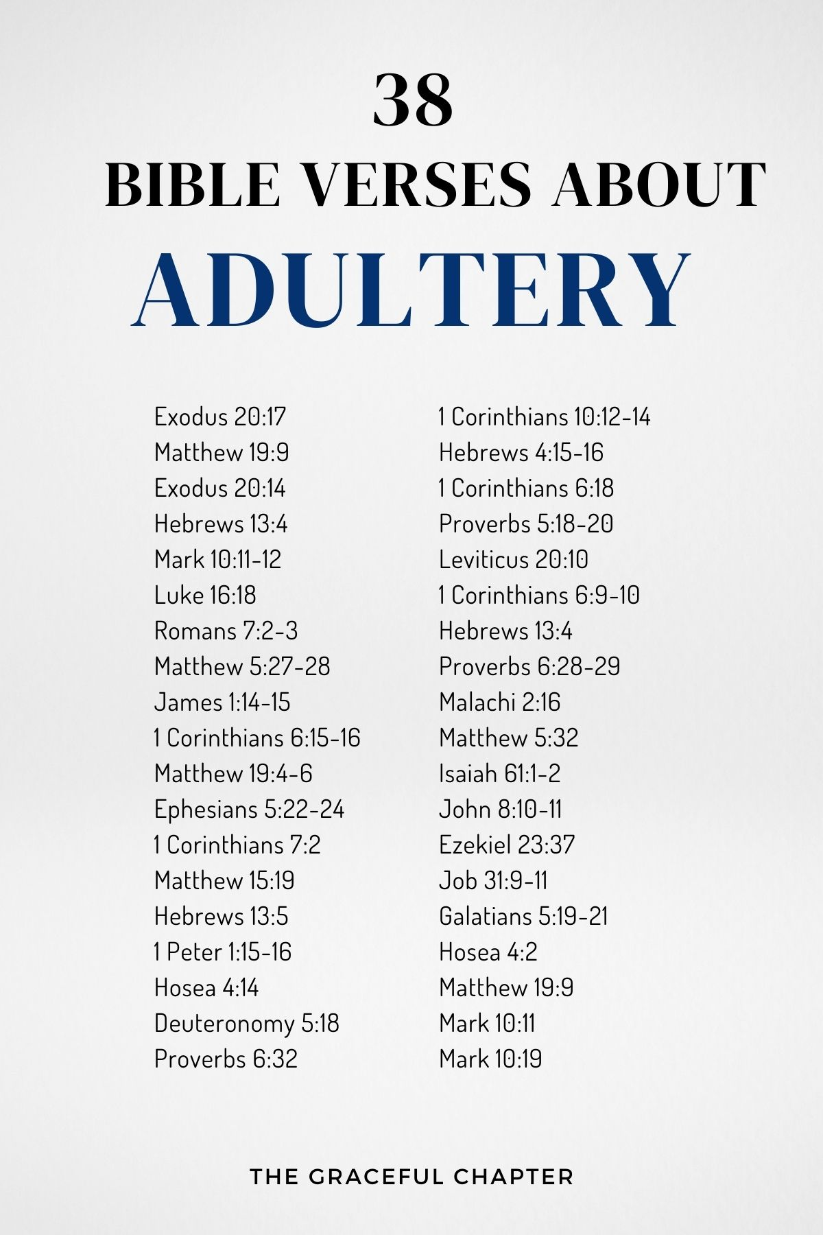bible verses about adultery