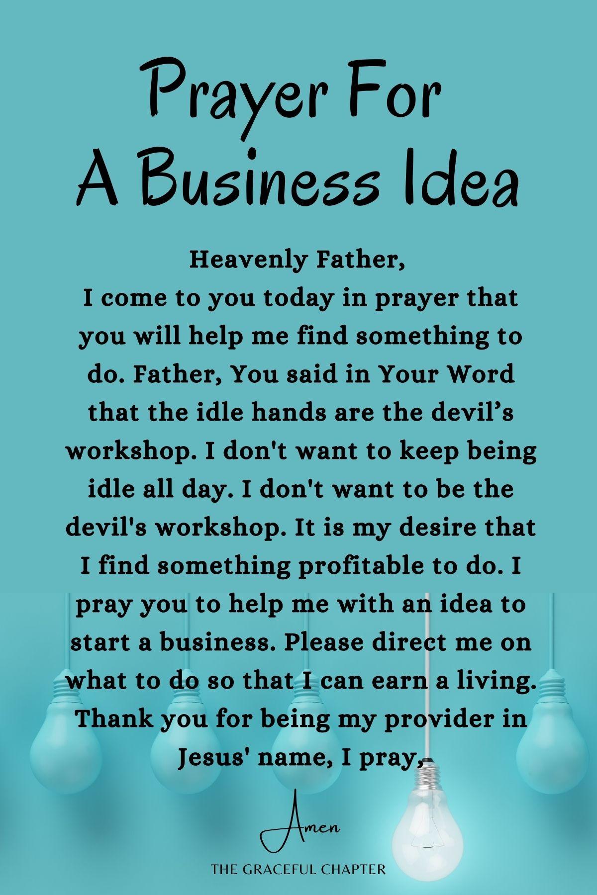 Please give me a business idea