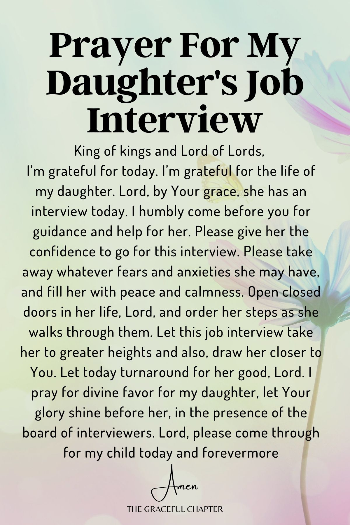 Prayer for my daughter's job interview