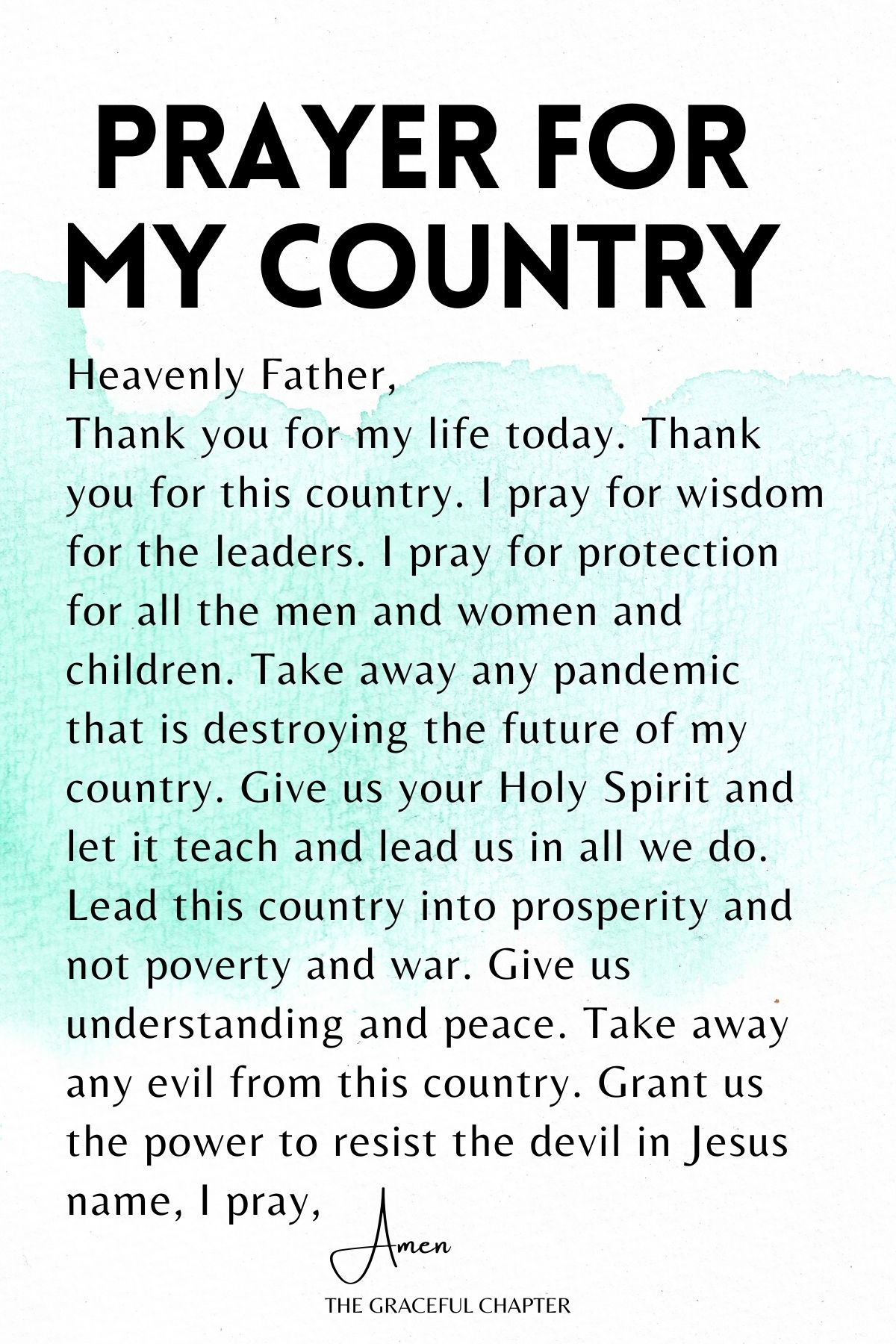 prayer for my country
