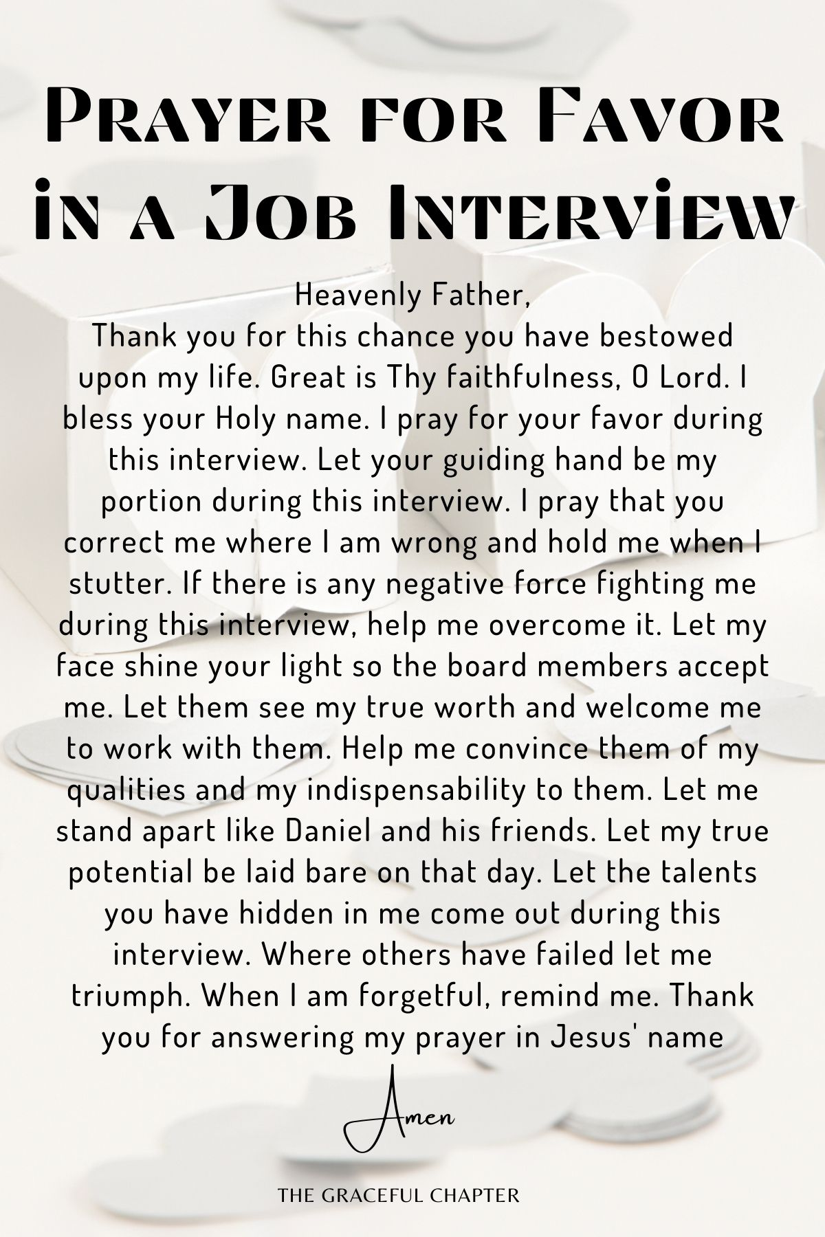 Prayer for favor in a job interview
