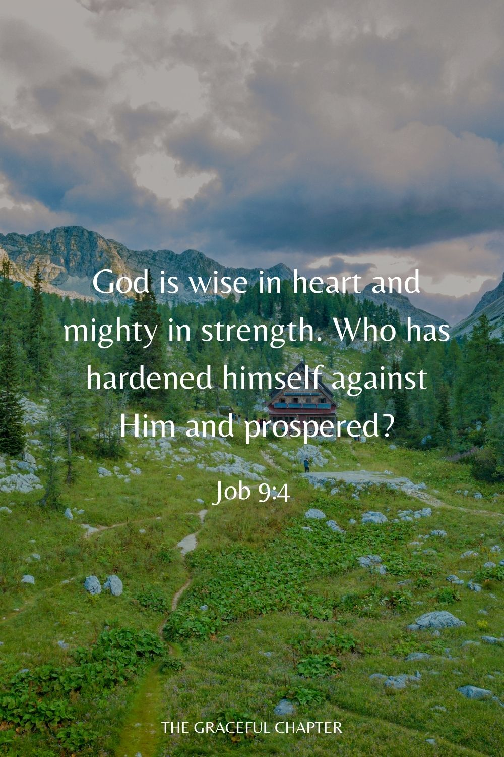 God is wise in heart and mighty in strength. Who has hardened himself against Him and prospered? Job 9:4