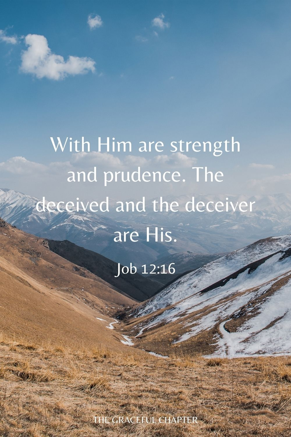 With Him are strength and prudence. The deceived and the deceiver are His. Job 12:16