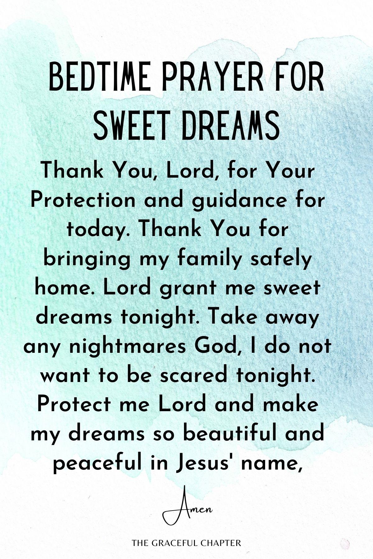 Bedtime prayer for sweet dreams