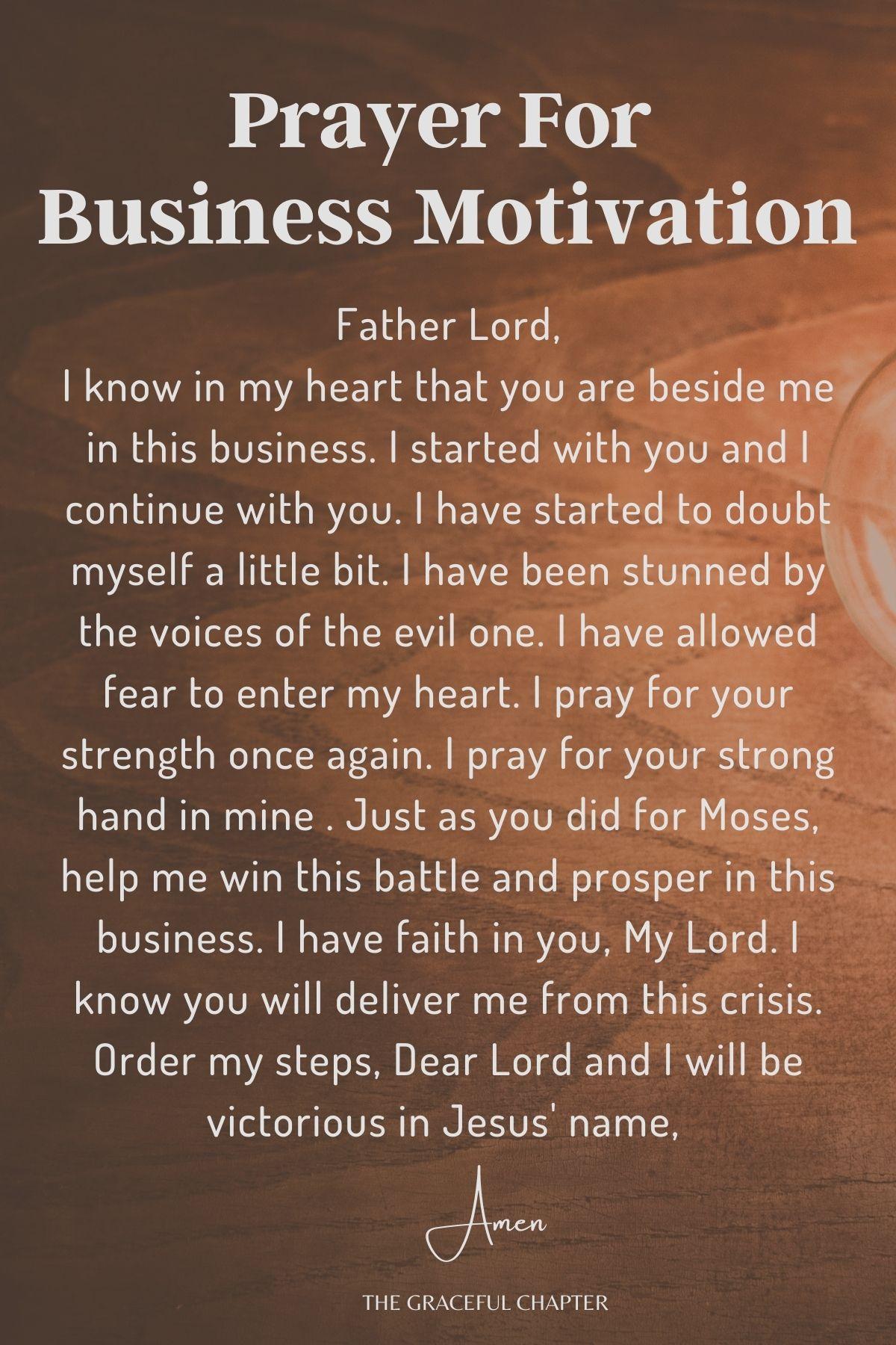 Prayer for motivation