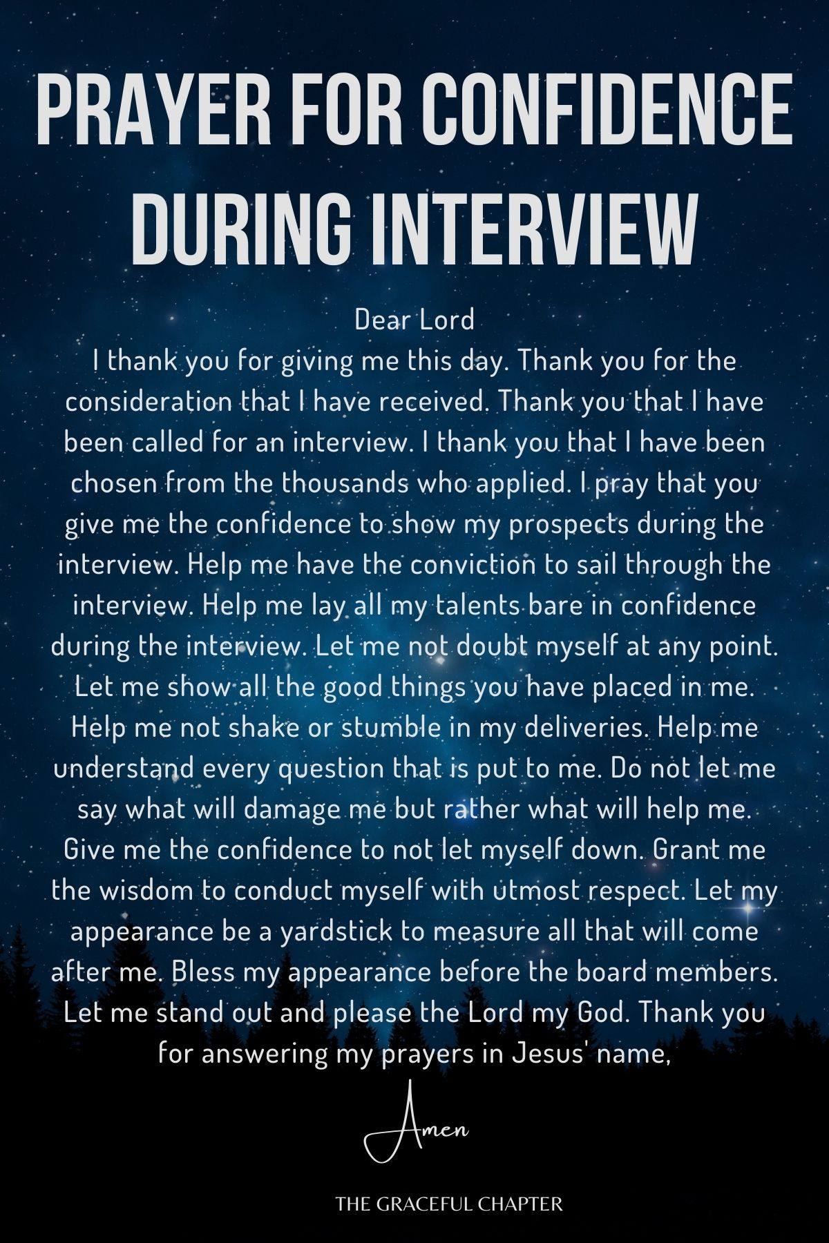 Prayer for confidence during interview